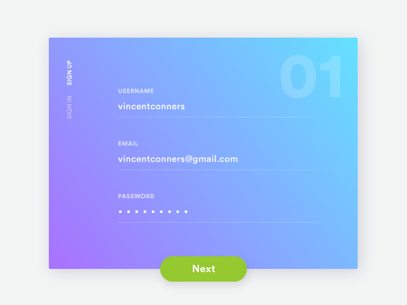 Daily UI 001 Signup
