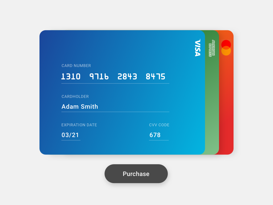 002 credit card light
